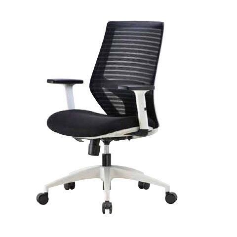 【辦公椅 】1809W 時尚白框職員椅