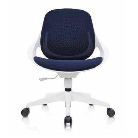 【辦公椅 】1817W 時尚白框洽談椅