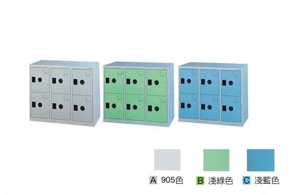 【鋼製鞋櫃-W89cm】6大格有門鋼製鞋櫃