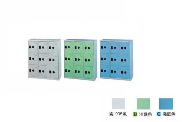 【鋼製鞋櫃-W89cm】9大格有門鋼製鞋櫃
