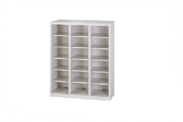 【鋼製鞋櫃-W89cm】18小格無門鋼製鞋櫃