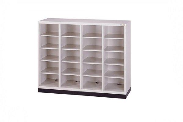 【鋼製鞋櫃-W118cm】20小格無門鋼製鞋櫃