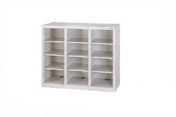 【鋼製鞋櫃-W89cm】12小格無門鋼製鞋櫃