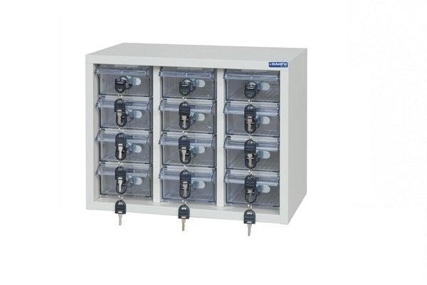 【手機櫃、小型上鎖置物櫃、重要零件櫃】12格手機櫃