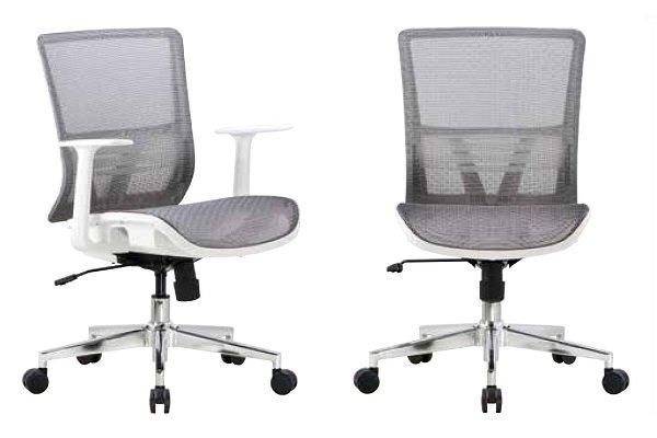 【辦公椅 】1803W 時尚白框職員全網椅