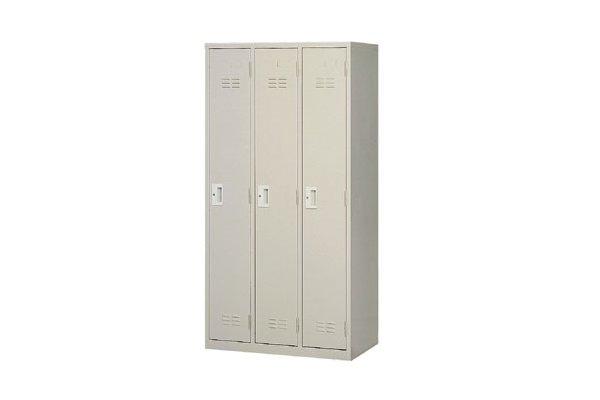 【置物衣櫃 】3人鋼製衣櫃、鋼製置物衣櫃