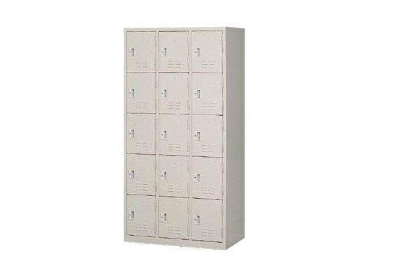 【置物衣櫃 】15人鋼製衣櫃、鋼製置物衣櫃