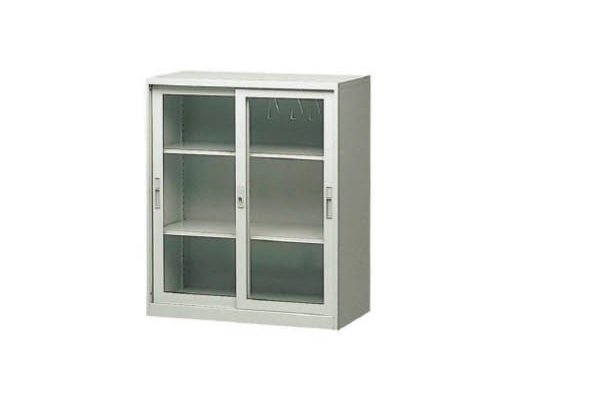 【U型櫃】CG-3 玻璃加框三層拉門理想櫃